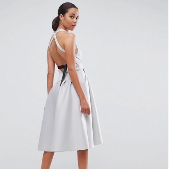 1ee37179ff ASOS Dresses   Skirts - PREMIUM Cross Back D Ring Prom Midi Dress